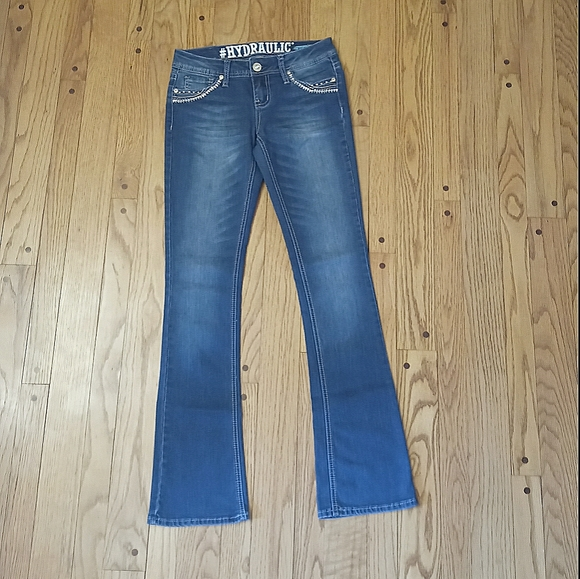 HYDRAULIC BAILEY LOW RISE SLIM BOOT CUT JEANS 5/6